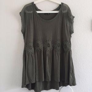 RXB Mesh Sleeve Lace Tunic